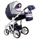 Детская коляска 2 в 1 Adamex Aspena World Collection Love Cappucino