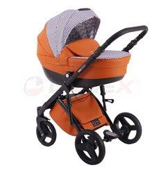 Детская коляска 2 в 1 Adamex Monte Deluxe Carbon D28
