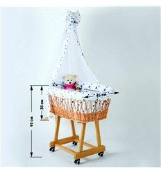 Коляска для куклы Adbor Mini Ring MR7 красный цветы на черном