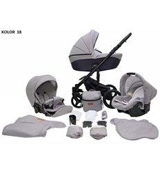 Детская коляска 2 в 1 Adamex Erika 366S - 50% кожа