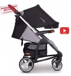 Прогулочная коляска для двойни Chicco Echo Twin Coal