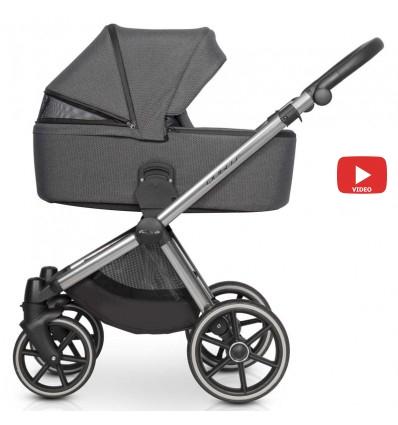 Детская коляска 2 в 1 Baby Merc Bebello 108B черная рама