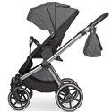 Детская коляска 2 в 1 Mikrus Safari Cross 03 Melanzana эко кожа