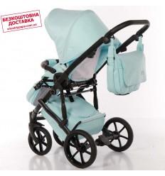 Детская коляска 2 в 1 Roan Bass Soft Denim Beige Dots