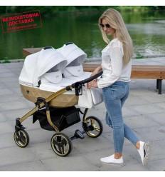 Прогулочная коляска для двойни Coletto Enzo Twin Dark Grey