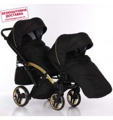 Прогулочная коляска для двойни Coletto Enzo Twin Grey