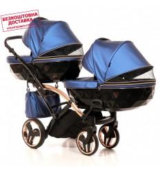 Прогулочная коляска для двойни Coletto Enzo Twin Jeans