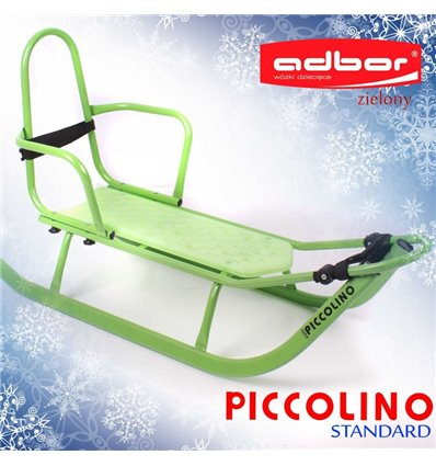 Санки Adbor Piccolino со спинкой зеленые