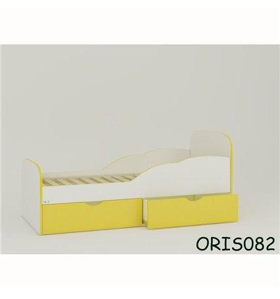 Подростковая кроватка Oris Selena бело-желтый
