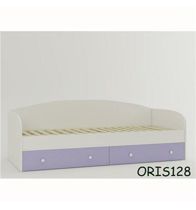 Подростковая кроватка Oris Nika бело-лиловый