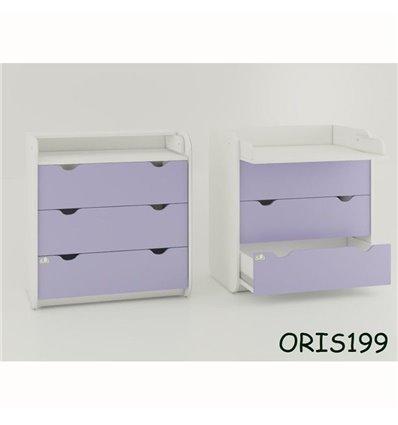Комод-пеленатор Oris на 3 ящика лиловый