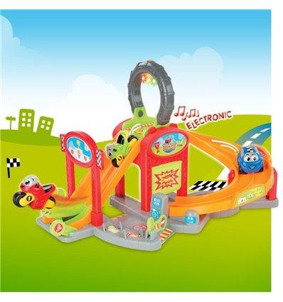 Электронная парковка супер гонки со светом и звуком Smoby Vroom Planet 211399