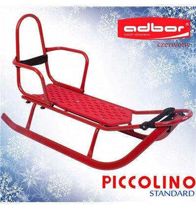 Санки Adbor Piccolino зі спинкою червоні
