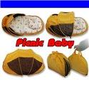 Складна сумка-ліжко з матрацом і подушкою Ontario Picnic Baby Синя