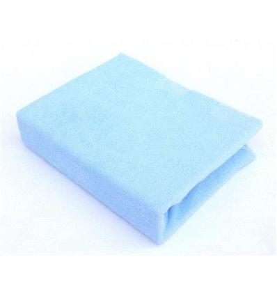 Простынь махровая Twins на резинке голубая