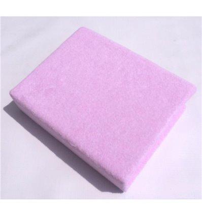 Простынь махровая Twins на резинке розовая