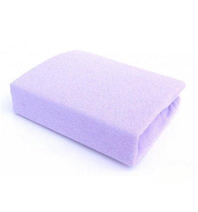 Простынь махровая Twins на резинке фиолетовая