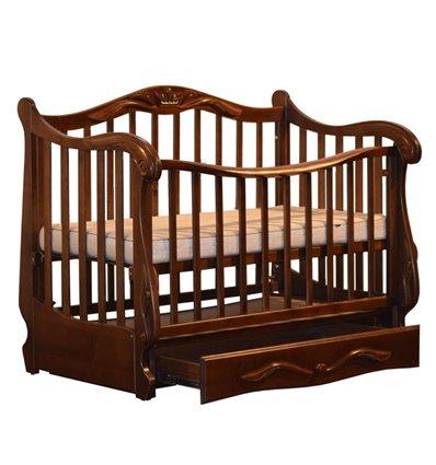 Кроватка Колисани Корона орех