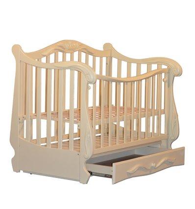 Кроватка Колисани Корона слоновая кость