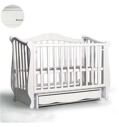 Кроватка Колисани Лотос белый