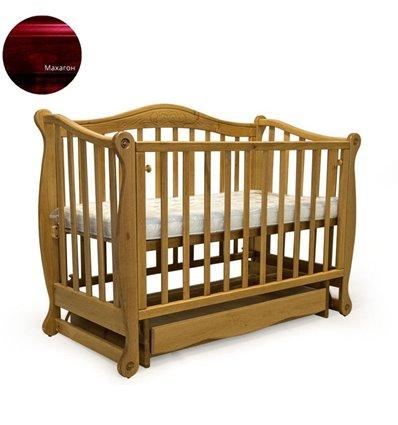 Кроватка Колисани Ляля махагон