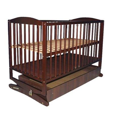 Кроватка колыбель Klups RADEK с ящиком. Орех