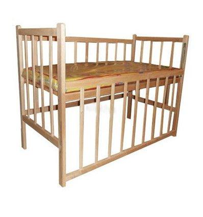 Кроватка КФ с опускаемой боковиной. Без лака.