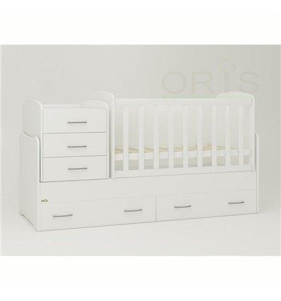 Детская кроватка-трансформер Oris Afina белый