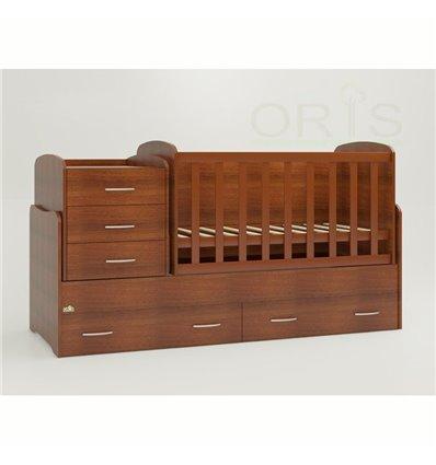Детская кроватка-трансформер Oris Afina орех