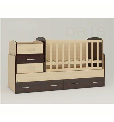 Детская кроватка-трансформер Oris Afina комбинированный венге