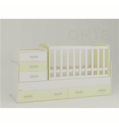 Детская кроватка-трансформер Oris Afina ваниль 2