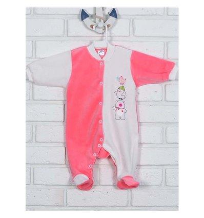 Комбінезон Татошка 15306 рожевий/молочний