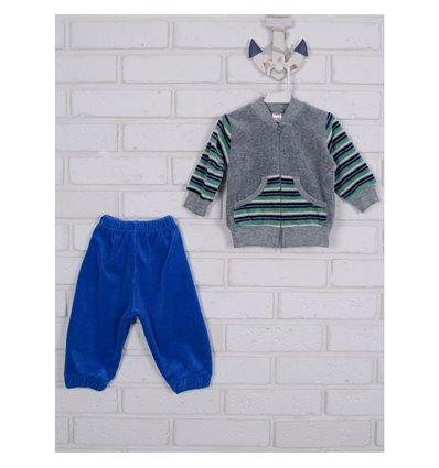 Комплект Татошка 08340 серый/синий/полоска белый, синий и салатовый