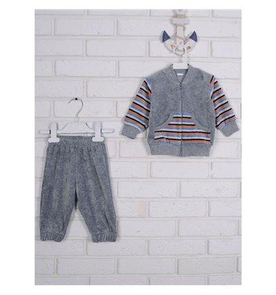 Комплект Татошка 08340 серый/полоска белый, голубой и оранжевый