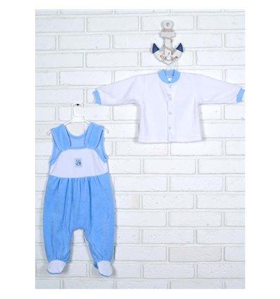 Комплект Татошка 08383 белый/голубой