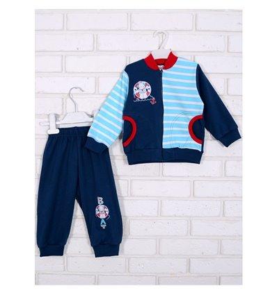 Комплект Татошка 08677 синій/бирюзовий полоска/червоний