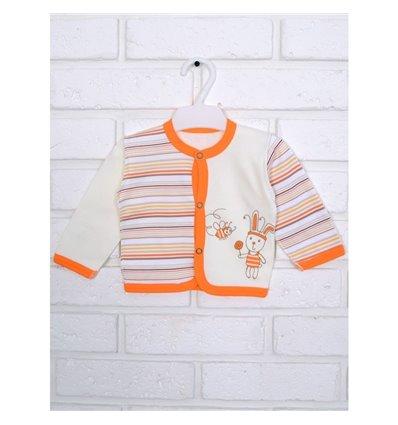 Кофточка Татошка 04502 молочный/оранжевый/принт полоска