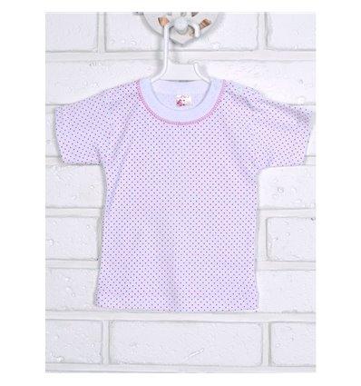 Футболка Татошка 06601 белый-розовый горошек