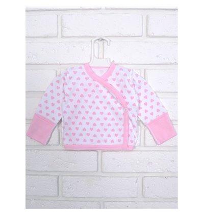 Распашонка Татошка 09653 белый-розовый-принт сердечки