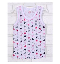 Майка Татошка 25628 білий-рожевий-принт сердечка 5f162020b4154