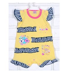 Пісочник напівкомбінезон Татошка 16174 жовтий-рожевий-синій полоска f4c6e556aaf12