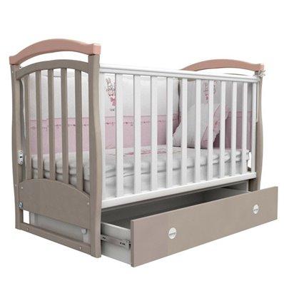 Кроватка Верес Соня ЛД6 маятник 06.12, Цвет-капучино розовый