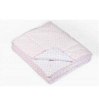 Ковдра і подушка в ліжечко Twins Minky pink