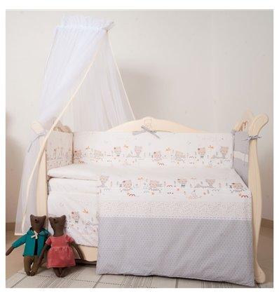Детский постельный комплект Twins Eco Line 6 элементов E-017