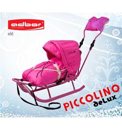 Санки Adbor Piccolino Delux розовые