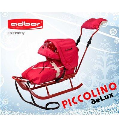 Санки Adbor Piccolino Delux красные