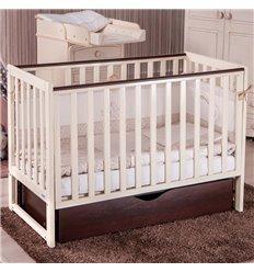 Детская кроватка Twins Pinocchio слоновая кость/орех