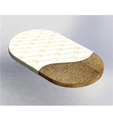 Матрац IngVart для ліжечок Baggybed Oval Кокос, 60x120 см 6025