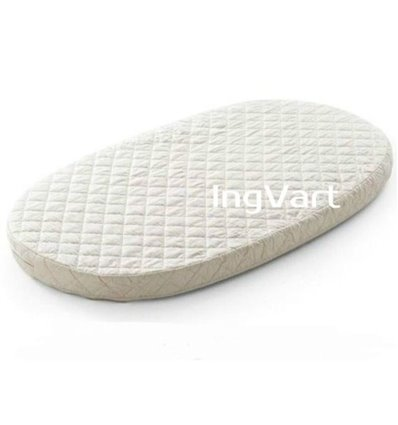 Матрац IngVart для ліжечок Baggybed Oval Кокос+латекс, 60x120 см 6027