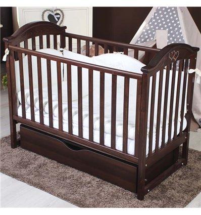 Дитяче ліжечко Twins iLove горіх
